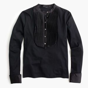 J.Crew Tuxedo-Inspired Long-Sleeve T-shirt Size M